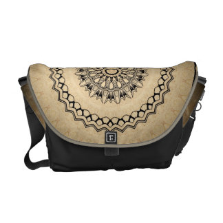 Black and Tan Kaleidoscope Commuter Bag