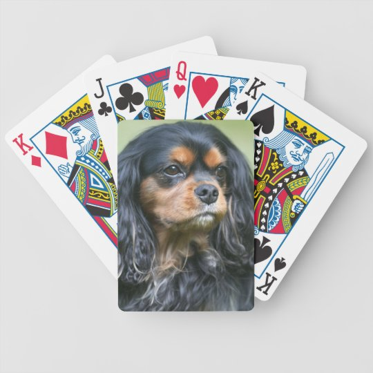 Black And Tan King Charles Spaniel Playing Cards
