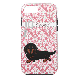Black and Tan Long Haired Dachshund Walking iPhone 7 Case