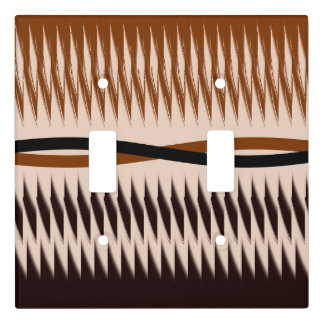 Black and Tan Modern Print Light Switch Cover