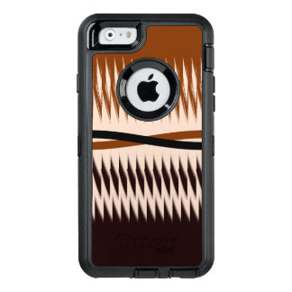 Black and Tan Modern Print OtterBox Defender iPhone Case