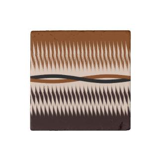 Black and Tan Modern Print Stone Magnets