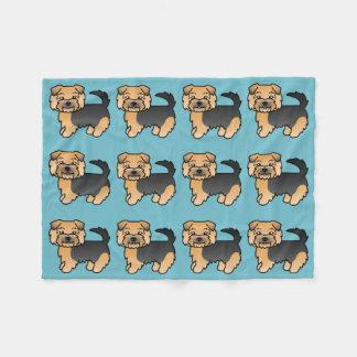 Black And Tan Norfolk Terrier Fleece Blanket