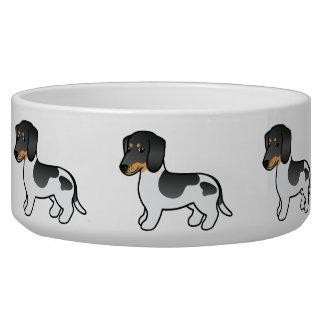Black And Tan Piebald Smooth Coat Dachshund Dog Dog Food Bowls