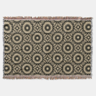 Black and Tan Sepia Pattern Throw Blanket