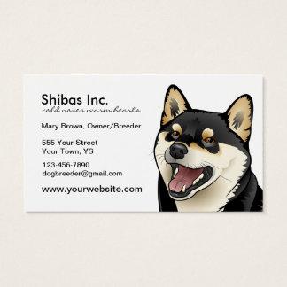 Black and Tan Shiba Inu Dog Customizable card