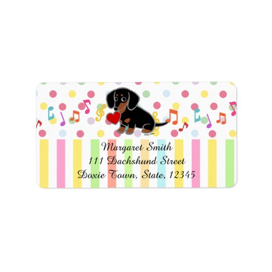 Black and Tan Smooth Dachshund Heart