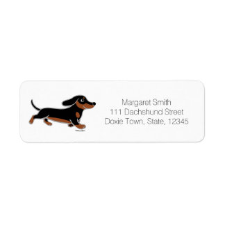 Black and Tan Smooth Dachshund Running