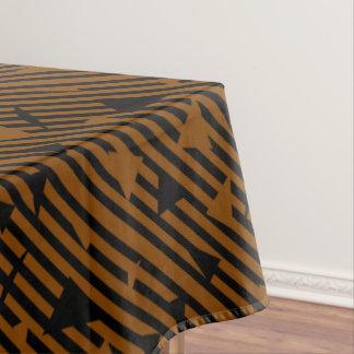 Black and Tan Tablecloth