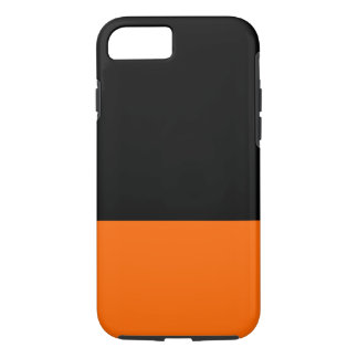 Black and Tangerine iPhone 7 case