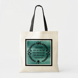 Black and Teal Life is LIVED Tote Bag