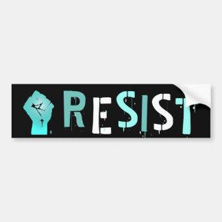 Black and Teal Resist Anti Trump Bumper Sticker
