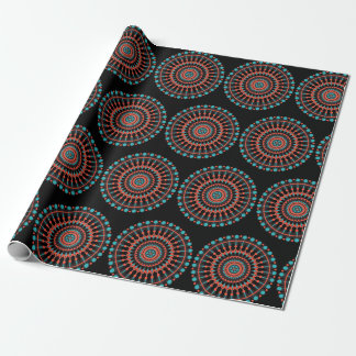 Black and Turquoise Mandala Gift Wrap