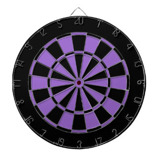 black and violet purple dartboard