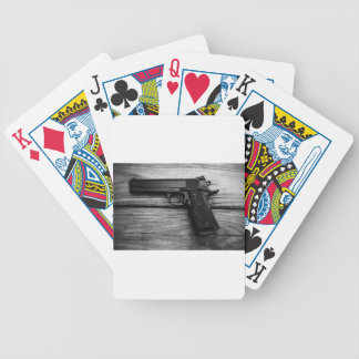 Black and White 1911 Bicycle Playing Cards