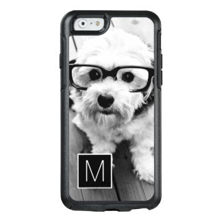 Black and White 1 Photo Collage Custom Monogram OtterBox iPhone 6/6s Case