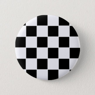 Black and white 2 inch round button