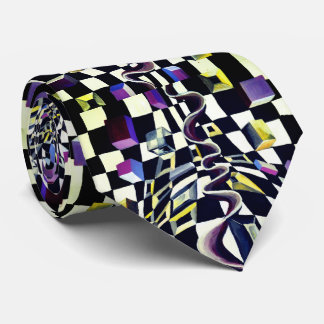 Black and white 3d effect tie