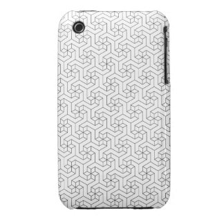 Black and White 3D iPhone 3/3GS case iPhone 3 Cover
