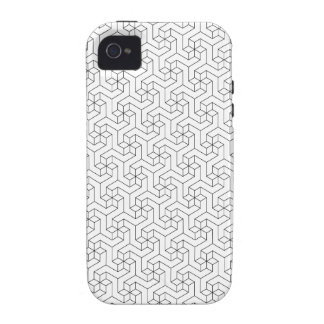 Black and White 3D iPhone 4/4S case