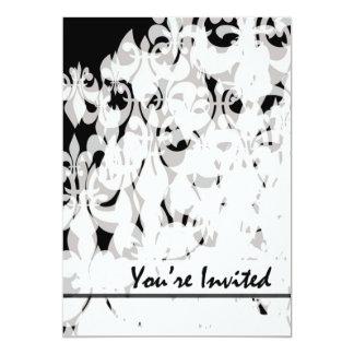 "Black and White 5"" X 7"" Invitation Card"