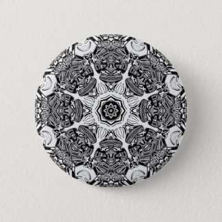 Black And White Abstract 2 Inch Round Button