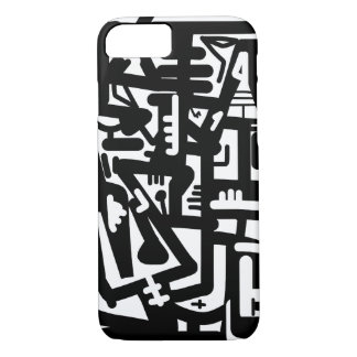 Black and White Abstract Art iPhone 7 Case