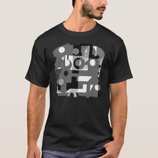 Black And White Abstract Art T-Shirt