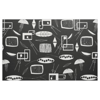 Black and White Abstract Fabric