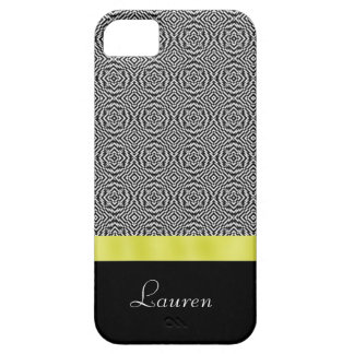 Black and White Abstract Gold iPhone 5 Case