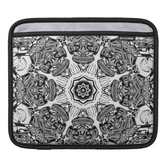 Black And White Abstract iPad Sleeve