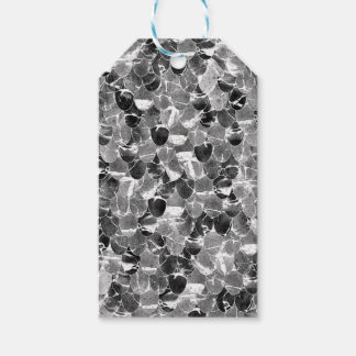 Black and White Abstract Mermaid Scales Pattern Gift Tags