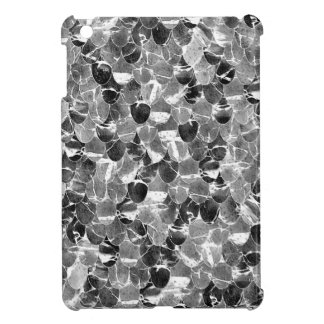 Black and White Abstract Mermaid Scales Pattern iPad Mini Cover