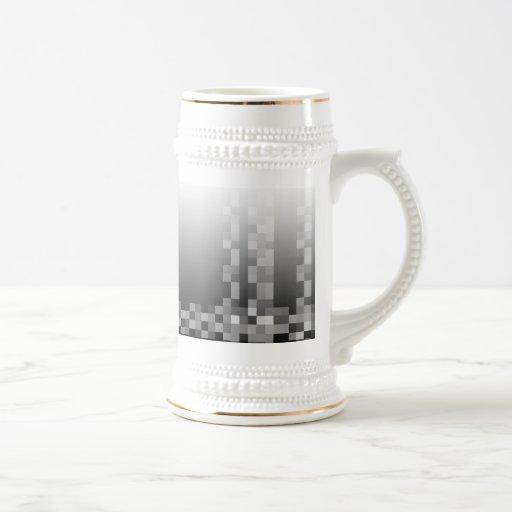 Black and White Abstract Modern Design. Coffee Mug