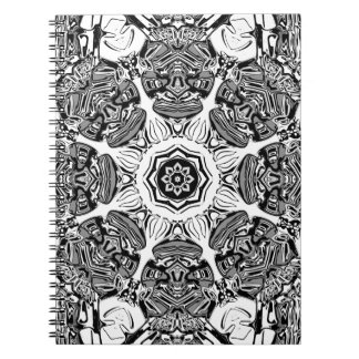 Black And White Abstract Notebooks