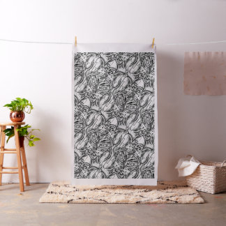 Black and white abstract painting fabric