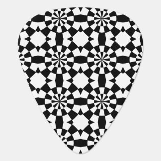 Black and white abstract pattern guitar pick