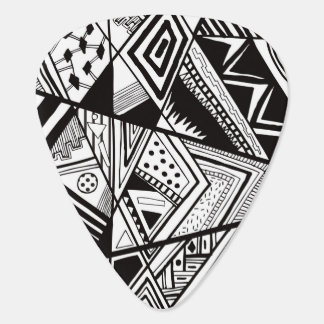Black and white abstract pattern pick
