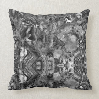 Black and white abstract Quartz Throw Pillow