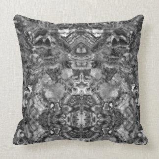 Black and white abstract Quartz Throw Pillow