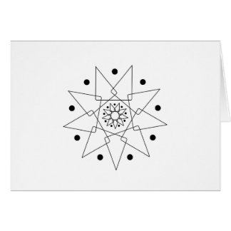 Black and White Abstract Shape Card