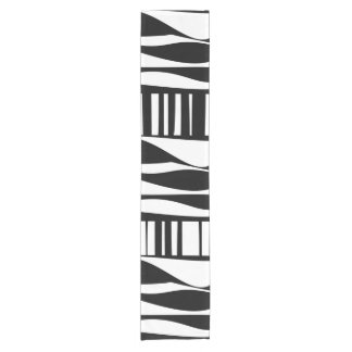 Black and White Abstract Table Runner
