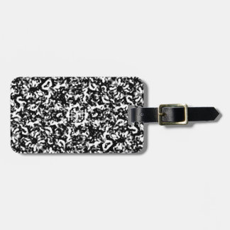 Black and White Abstract Texture Luggage Tag