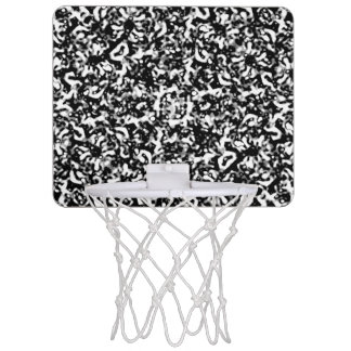 Black and White Abstract Texture Mini Basketball Hoop