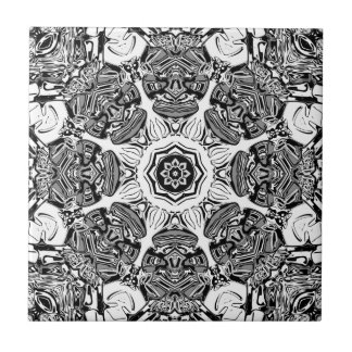 Black And White Abstract Tile