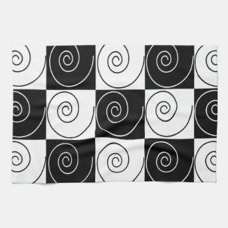 Black and White Abstract Towels