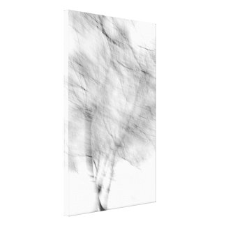 Black And White Abstract Tree Photograph Canvas Print