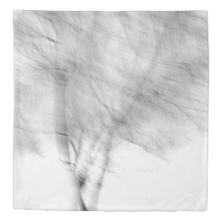Black And White Abstract Tree Photograph Duvet Cover