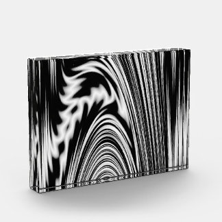 Black and White Abstract Twist