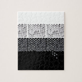 Black and white abstraction jigsaw puzzle